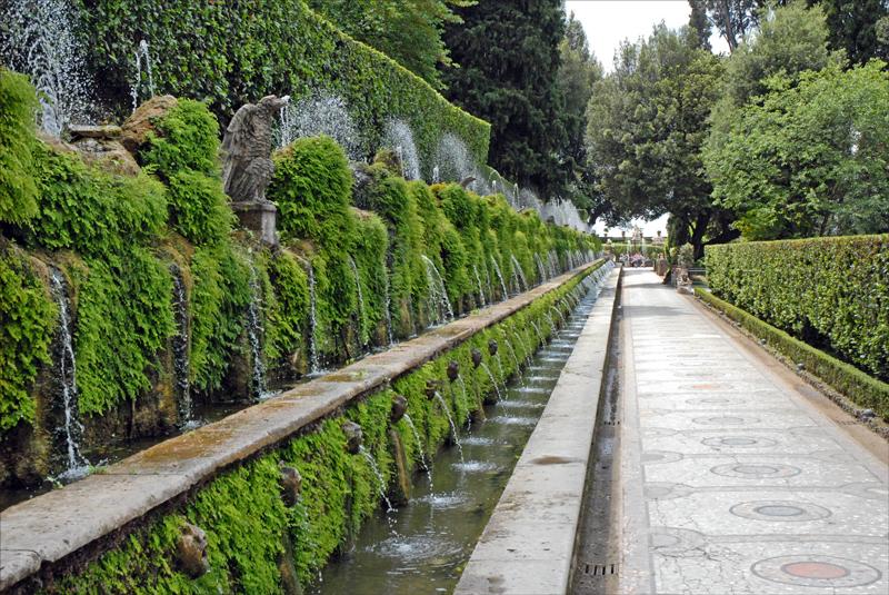 Fontanna w Villa d'Este