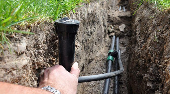 Zakładanie systemu nawadniania trawnika